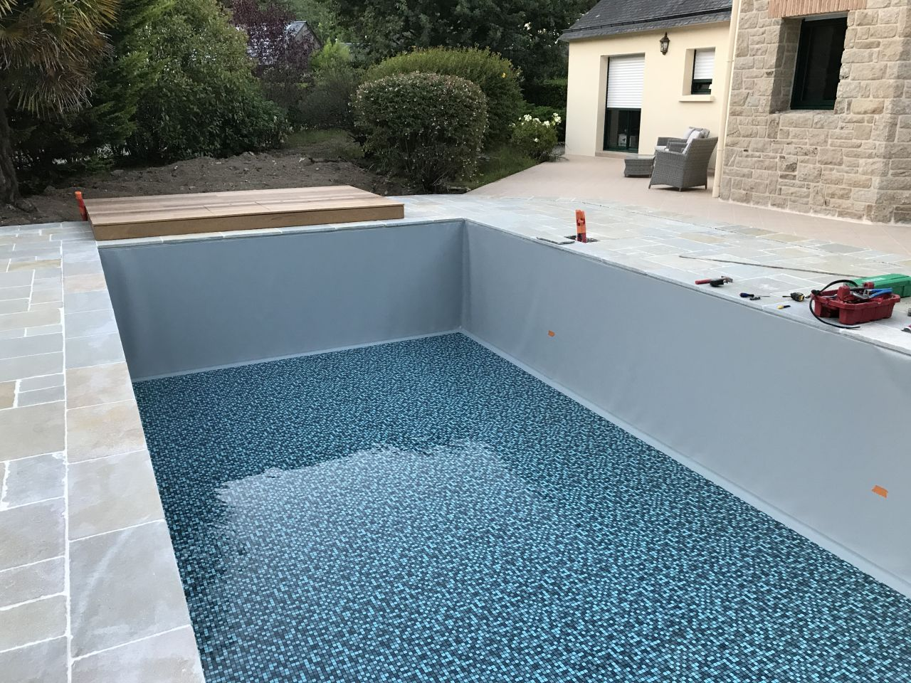 Piscines b ton traditionnelles for Etancheite piscine beton